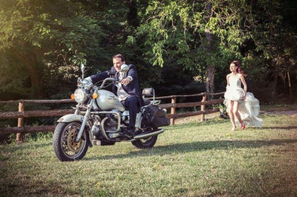 location matrimoni firenze moto sposi