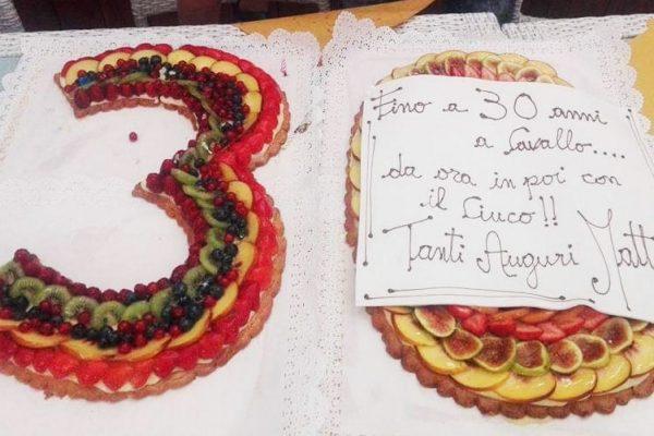 sala ricevimenti agriturismo torta compleanno